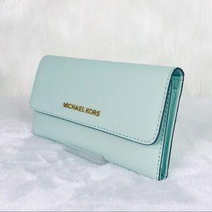 Michael Kors Bags - Michael Kors Jet Set Large Trifold Wallet